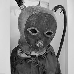 Scuba 2 (marcovdz) Tags: old france helmet gear scuba diving suit diver provence aqualung var antic plonge ancien casque sanary plongeur nb bw scaphandre scaphandrier scubamuseum musedelaplonge