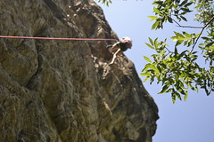 goin' down (2) (Cook*) Tags: trees summer mountain france girl grave rock la leaf climbing 2012