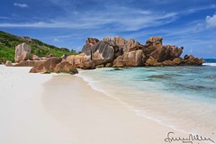 Anse Coco in La Digue - Seychelles (lathuy) Tags: ocean sea mer water island eau turquoise indian ile explore seychelles indien cocos explored