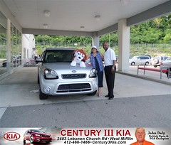 Century 3 Kia would like to say Congratulations to Deborah Babridge on the 2013 Kia Soul from Larry Blair (Century 3 KIA) Tags: new 3 west car century sedan truck wagon happy pittsburgh pennsylvania used vehicles pa delivery bday kia van minivan suv coupe dealership hatchback dealer customers mifflin shoutout 4dr 2dr preowned