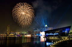 NDP CR2 Fireworks (looyaa) Tags: night landscape singapore colorful pentax fireworks ndp avalon 1224 mbs marinabay nationaldayparade k30 combinedrehearsal