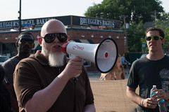 Brother Ali speaks at Justice for Terrance protest (Fibonacci Blue) Tags: justice4terrance twincities terrance franklin rally march demonstration event minnesota brutality terrence tarrence police shot shooting cop law enforcement incarceration uptown black africanamerican justice blm blacklivesmatter response death dead die kill megaphone loudspeaker mpls minneapolis protest protester officer activist activism