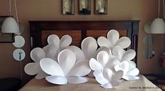 Giant Paper Flowers (Carlos N. Molina - Paper Art) Tags: flowers flores art paperart advertising origami kirigami papel plumerias papercraft puertoricanart papersculpture cosmeticdisplay