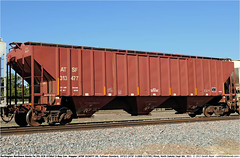 ATSF313477GB_060911 (Catcliffe Demon) Tags: lo northamerica bnsf atsf freightcars burlingtonnorthernsantafe atchisontopekasantafe coveredhopper grainhopper ga180 pullmanstandard ps2cd 3bay wagonsontheweb 4750cf