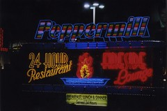 Peppermill Fireside Lounge (Nick Leonard) Tags: city vegas art classic film colors beautiful breakfast night analog dinner 35mm vintage lunch restaurant amazing rainbow artwork colorful neon lasvegas gorgeous nevada nick lounge scan retro nighttime 35mmfilm neonsign fonts firepit timeless cursive circuscircus 24hours eatery peppermill peppermillfiresidelounge neonart amazingfood colorprintfilm nickleonard believeinfilm