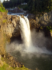 Snoqualmie Falls... Vertical. (woodendesigner) Tags: sun water pool day afternoon gorgeous twin hike falls falling late glowing flowing peaks shining snoqualmie splashing