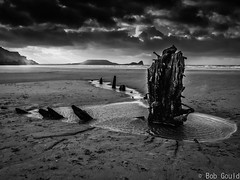 Rhossili Bay (Bob0260) Tags: winter sky southwales wales clouds landscape outside outdoors coast sand outdoor coastal shipwreck coastline gower nautical helvetia rhossilibay nauticalstructure