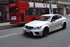 Mercedes C63 AMG Black Series (Jesper Schuppers) Tags: park street black london volkswagen mercedes amazing cool martin rich fast ferrari hyde arab porsche lane enzo sloan series rolls jaguar expensive audi bugatti exclusive royce aston amg spoiler supercars maybach c63
