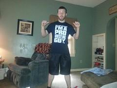 Brandon Davis adding himself to the elite group of Pro Wrestling Guys.