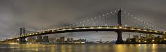 Manhattan Bridge (1 Johnny) Tags: nyc newyorkcity longexposure bridge panorama usa ny night lights photo nightlights image steel pano picture bridges panoramic manhattanbridge manhattenbridge 1johnny