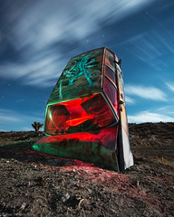 Down to Earth (dejavue.us) Tags: longexposure nightphotography lightpainting abandoned nikon desert nevada fullmoon nikkor d800 goldfield 1835mmf3545d vle carforest