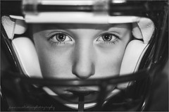 Football Headshot. (psalm271_14) Tags: camera boy bw white black field night oregon mouth photography football kid nikon photographer child open slow with time shots head flash 14 country hill helmet guard wide wing off headshot front eugene shutter sync mean 50 sprint tough tackle position pleasant lowell dragging intimidate sb800 billies d90