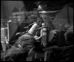 chaos (manni39) Tags: mamiya film vintage mediumformat kodak doubleexposure vintagecamera 6x7 atelier rollfilm rb67 tmx100 sekor mittelformat moyenformat mamiyasekor doppelbelichtung paintersstudio mamiyasekor90mm38