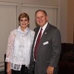 """<b>1988 #16</b><br/> Muffy Tiede and President David Tiede.<a href=""""http://farm3.static.flickr.com/2886/10422464186_ce556ff27c_o.jpg"""" title=""""High res"""">∝</a>"""