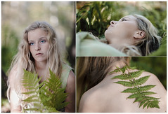fairytale (Kaire K) Tags: green nature girl fairytale forest naked bokeh ferns humannature