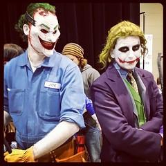 Two Eras of Jokers at Comic-Con (BenRogersWPG) Tags: two comic cosplay samsung note galaxy batman movies joker villain comiccon comicon android villains jokers eras instagram samsunggalaxynote c4con twoerasofjokersatcomiccon