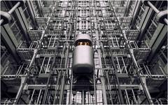 Solo.. (J.M.Fransen (jero 053)) Tags: building berlin monochrome architecture modern canon daylight europe mood surreal canon5d lightroom lud lightfall morningdawn canon5dmk2 jeroenfransen jero053