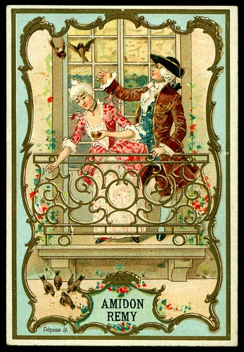 French Tradecard - Loving Couples