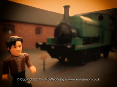 Doctor who admiring an old train