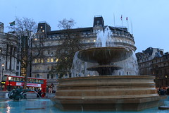 Project 365 #346 - Trafalgar Square Fountain (8DCPhotography (www.8dcphotography.co.uk)) Tags: christmas london fountain trafalgarsquare flags halfmast southafricahouse canonef24105mmf4lusm andycarr canoneos70d project3652013 www8dcphotographycouk