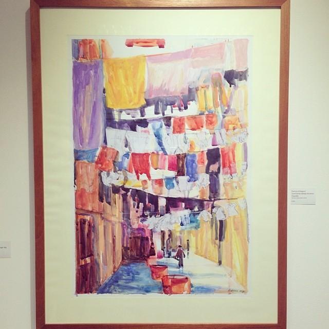 """""""Caminando debajo de letras mojadas"""" de Patricia Orbegoso $600 • Bazarte #bazarte #arteenlima #artinlima #arte #art #artist #artista #pintura #painting"""