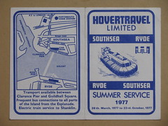Hovercraft 1977 (streamer020nl) Tags: uk england square island pier gb southampton 1977 isle clarence wight timetable southsea hovercraft ryde guildhall hovertravel