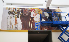 Museum, The Magic of Line exhibition at the Los Angeles County Museum of Art, Wall Graphic, Recreation of the original mural from Gustav Klimt
