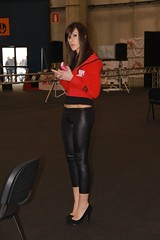 motorbike expo  model (themax2) Tags: girls sexy bike expo legs verona heels motor hostess tight lycra leggings 2010 fiera promotora  motorbikeexpo heighheel
