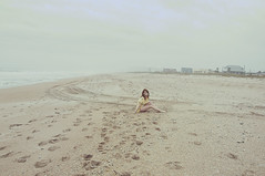 (yyellowbird) Tags: ocean winter selfportrait beach girl florida cari