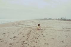 (yyellowbird) Tags: ocean winter selfportrait beach girl florida cari