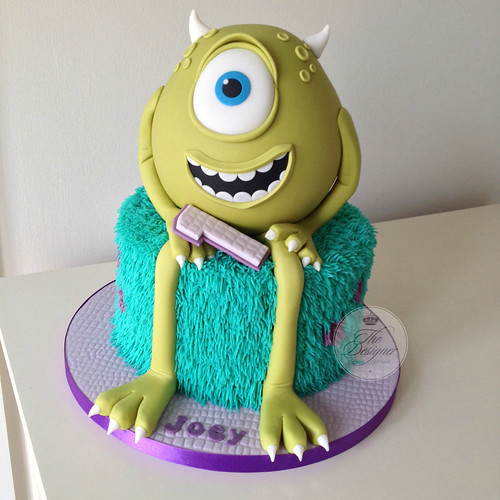 Fantastic Monsters Inc 1St Birthday Cake A Photo On Flickriver Personalised Birthday Cards Veneteletsinfo