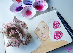 Work in Progress !!! : ) (Milagritos9) Tags: pink roses drawing patterns workinprogress sketchbook visualjournal rosas symbolism journalpages mily artistjournal visualdiary milagritos womanportrait magicwoman illustratedjournal moleskinejournals moleskineproject artmoleskine inspirationaljournal milycha diarioilustrado mujerilustracin spiritualjournal moleskinewatercolours moleskinehandmade watercoloursmoleskine moleskinewatercoloursnotebook ilustracionesmoleskine milagritosflores
