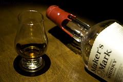 Very Small Batch (Nrbelex) Tags: glass canon 2470mml bottle whiskey 45 alcohol whisky wax dslr bourbon makersmark makers 2470mm 2470mmf28 90proof redwax glencairnglass ef2470mm nrbelex 5dmkiii 5diii