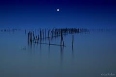 Armonia (lucascalmati) Tags: sky moon lake beach water landscape lago mirror nikon garda long italia cielo zen acqua riflessi brescia landescape paesaggio sirmione specchio gardalake lagodigarda d600 nd400