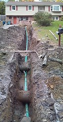 residential sewer install