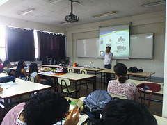 "PowerMundo's Marketing Director Rubens giving a presentation at the University of Ricardo Palma • <a style=""font-size:0.8em;"" href=""http://www.flickr.com/photos/69507798@N03/13540312863/"" target=""_blank"">View on Flickr</a>"