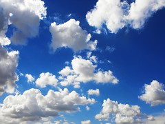 Blue spring sky with cotton clouds (Stella VM) Tags: blue light sky white clouds bulgaria