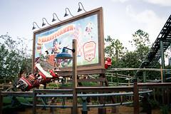 The Barnstormer Roller-coaster