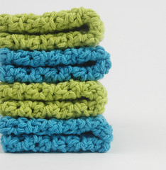 hotbluelimegreen1 (Reina Ferraris) Tags: blue usa handmade limegreen crochet dishcloth cotton gree washcloth madeinusa hotblue