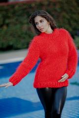 Tiffys Mohair Bulgaria wool sweaters (Mytwist) Tags: woman wool fashion craft bulgaria mohair leatherpants tiffys tiffysmohair