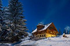 Dragobrat at Night (Wolfhowl) Tags: carpathians sun stars 2017 landscape ukraine mountains night драгобрат україна snow hdr carpathianmountains карпати winter dragobrat