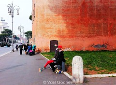 Street artists (Vasil Gochev) Tags: roma italy street artists europe buildings lapms architecture people art photography photographer travels tour tourism trip follow comment like
