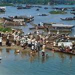 Hue 1968 - Makeshift ferries carry residents across the Perfume river thumbnail