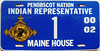Penobscot Nation Indian Representative to the Maine 2000-02 Legislature License Plate (Suko's License Plates) Tags: wabanaki passamaquoddy penobscot maliseet micmac indian tribe nation tribal native licenseplate matricula placa patente kennzeichen nummerschild targa targhe plaqueimmatriculation plaque numbertag license plate band nativeamericanindians