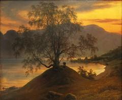 The Slinde birch (Bosc d'Anjou) Tags: norway sognefjord slinde sognogfjordane thomasfearnley norwegianart nationalmuseum