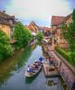 Balade en barque à Colmar. Alsace. (Co-jjack) Tags: colmar alsace village ville colombage maison balade barque maisoncolombage hdrsingleraw hdrenfrancais