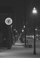 silent morning (nardell) Tags: snow snowing snowstorm morning mediapa pennsylvania winter cold clock townclock winter2017