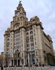 The Royal  Liver Building Liverpool England March 2014 (Dano-Photography) Tags: time clockface clocktower clock liverbird threegraces royalliver downtown cityscape architecture building theratles liverpool black dano beatles johnpaulgeorgeringo mersey river cavern pub mathew street 60s 70s sixties seventies pop rock music memorabilia fans historical yellowsubmarine help yesterday heyjude harddaysnight tour visit scenery sights city lfc rivermersey tourist tourists story experience