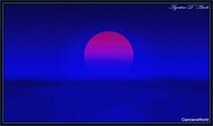 Alba rossa - Aprile-2017 (agostinodascoli) Tags: nikon nikkor cianciana sicilia photoshop photopainting sole cielo blu agostinodascoli landscape alba paesaggi texture nature creative colore fullcolor nikonclubit