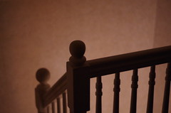 Dreamy (iluvgadgets) Tags: dreamy stairs banister backlit dark pentax 117picturesin2017